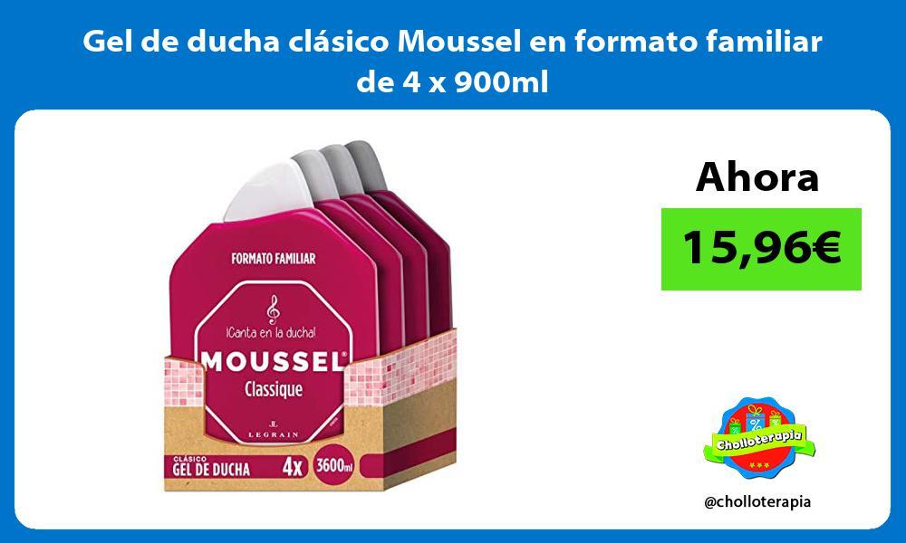 Gel de ducha clásico Moussel en formato familiar de 4 x 900ml