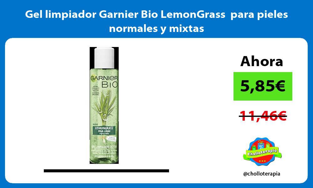 Gel limpiador Garnier Bio LemonGrass para pieles normales y mixtas