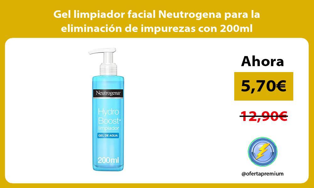 Gel limpiador facial Neutrogena para la eliminación de impurezas con 200ml