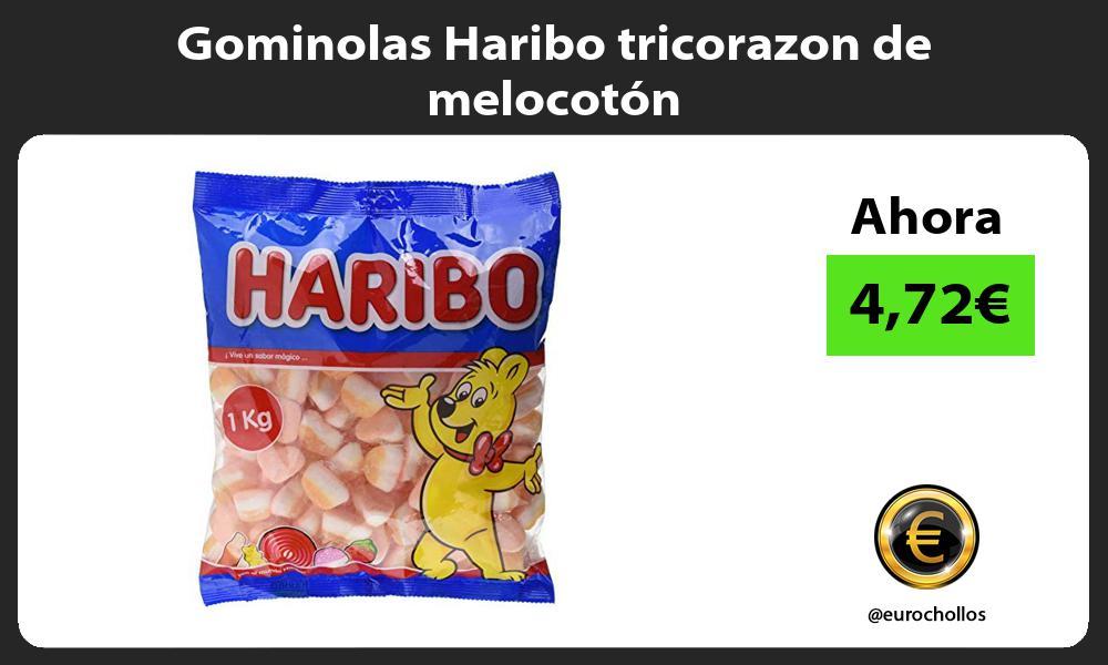 Gominolas Haribo tricorazon de melocotón