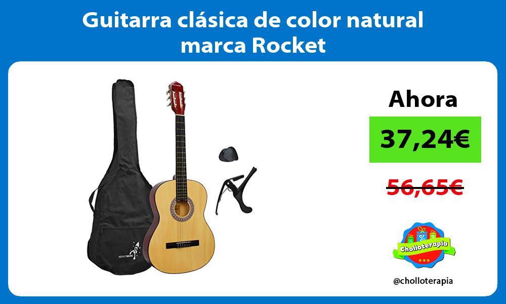 Guitarra clásica de color natural marca Rocket