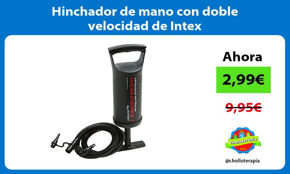Hinchador de mano con doble velocidad de Intex