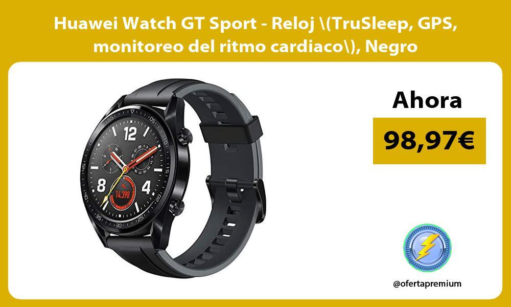 Huawei Watch GT Sport Reloj TruSleep GPS monitoreo del ritmo cardiaco Negro