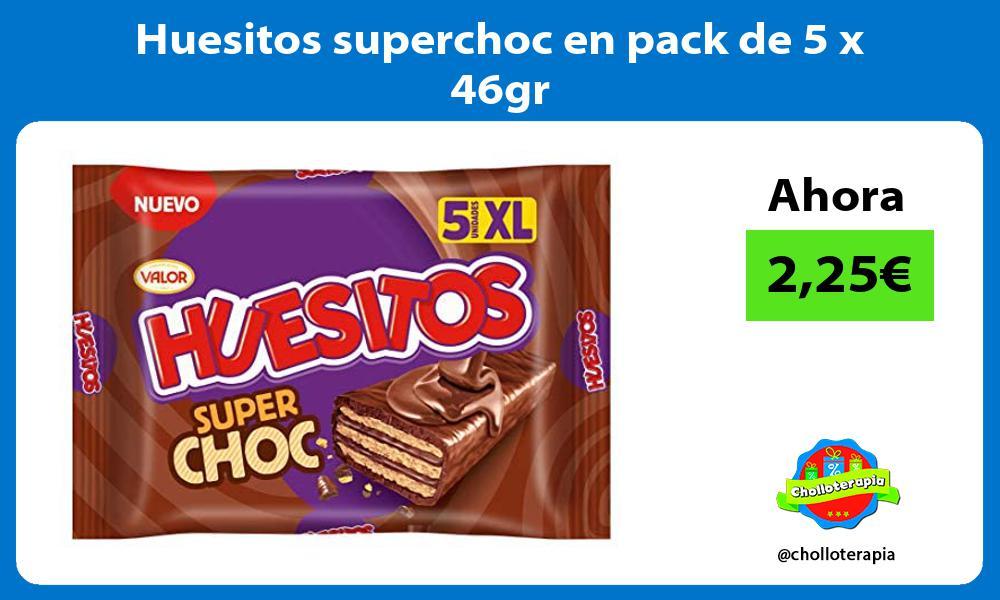 Huesitos superchoc en pack de 5 x 46gr