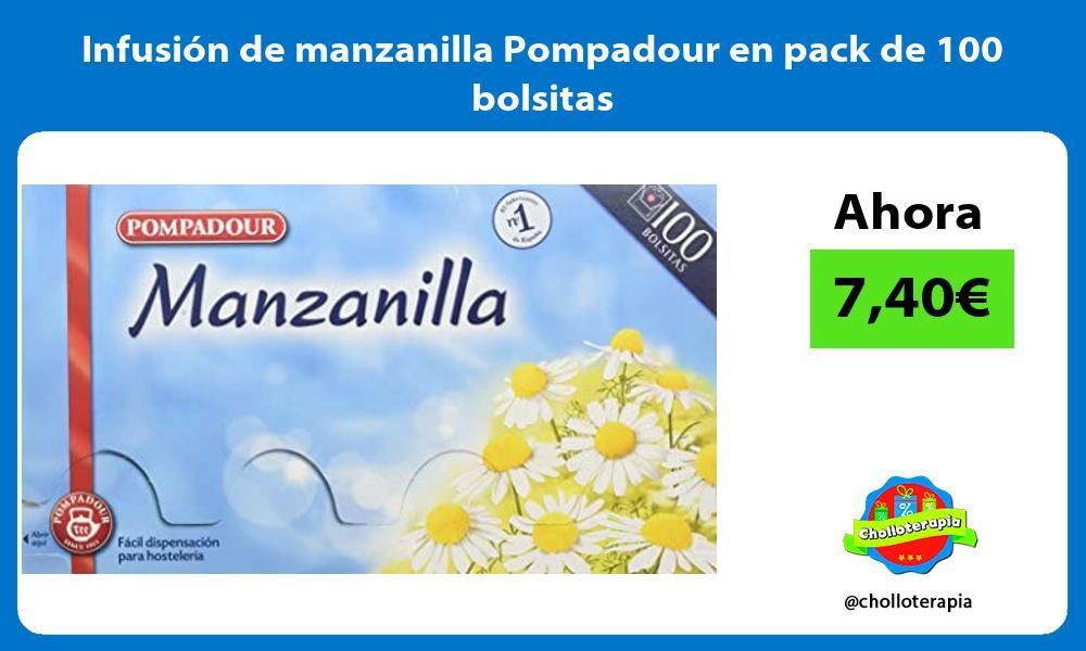 Infusión de manzanilla Pompadour en pack de 100 bolsitas