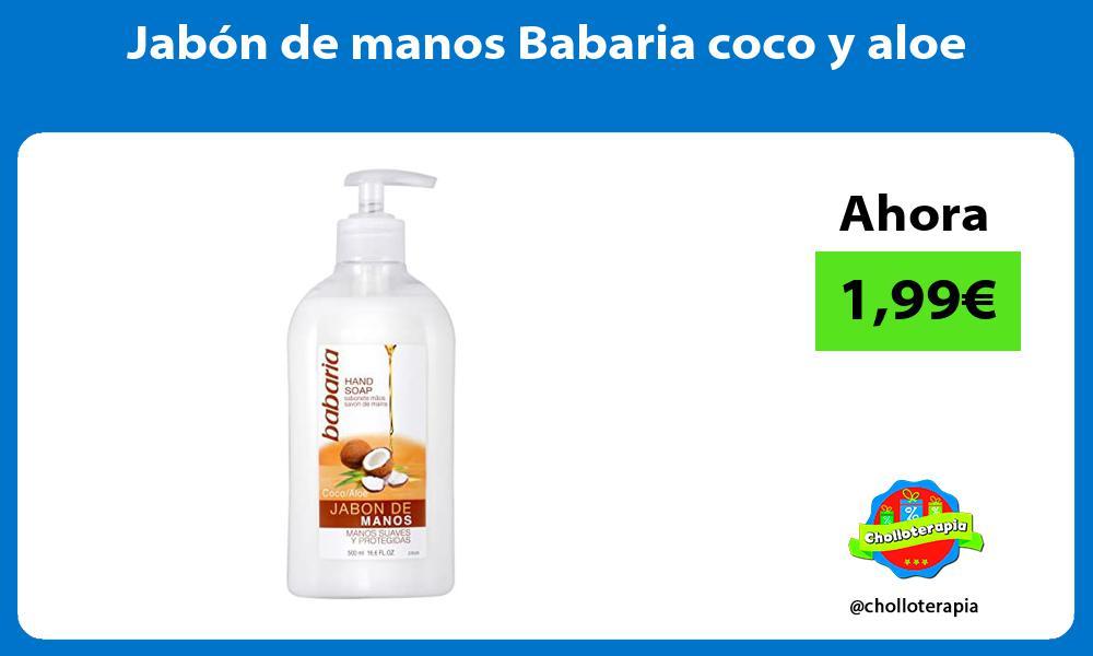 Jabón de manos Babaria coco y aloe