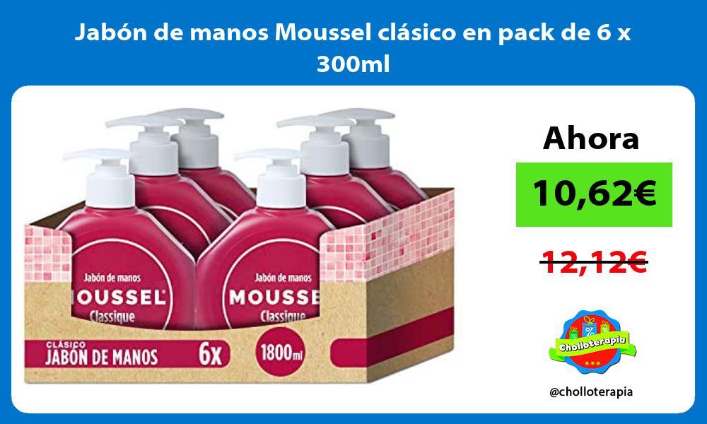 Jabón de manos Moussel clásico en pack de 6 x 300ml