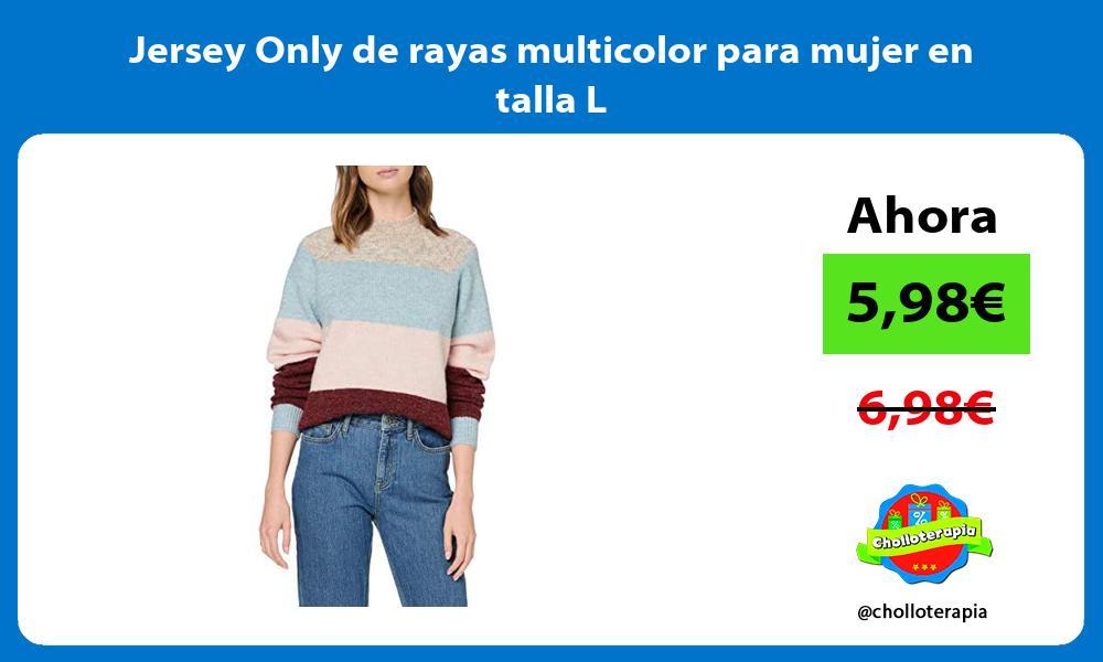 Jersey Only de rayas multicolor para mujer en talla L