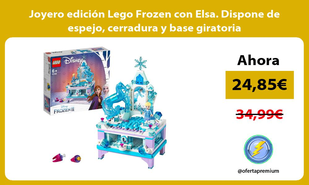 Joyero edición Lego Frozen con Elsa Dispone de espejo cerradura y base giratoria