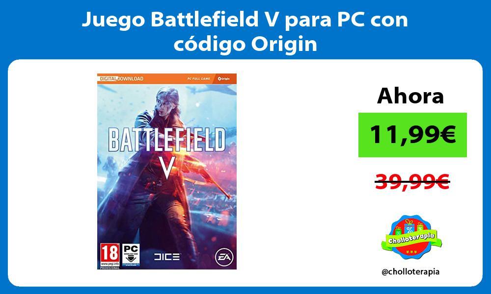 Juego Battlefield V para PC con código Origin