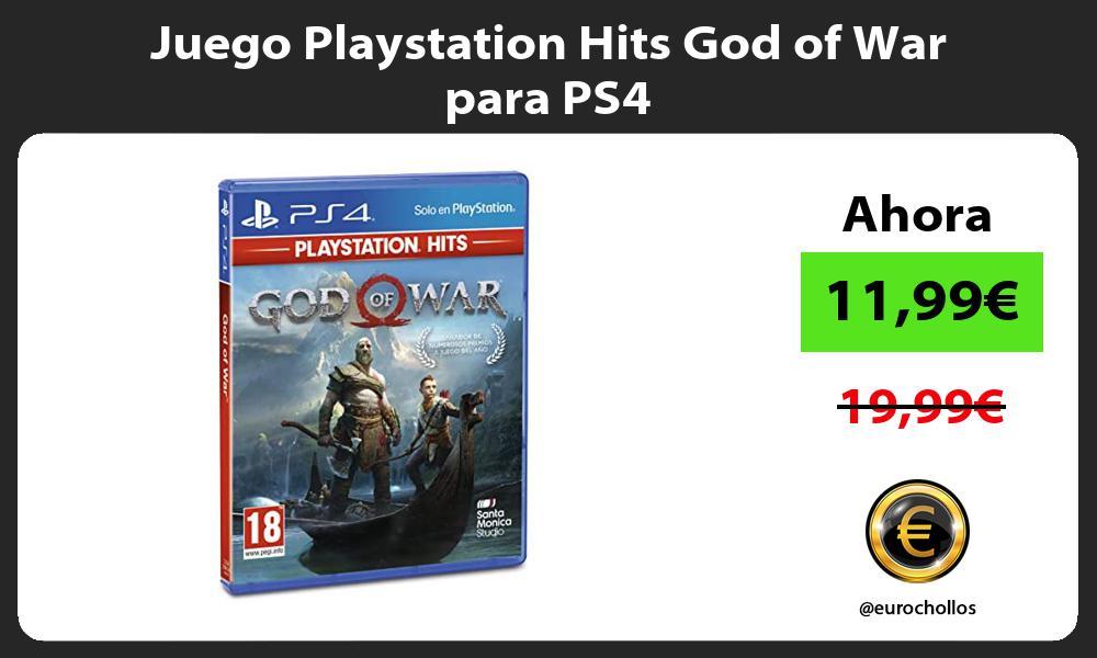 Juego Playstation Hits God of War para PS4