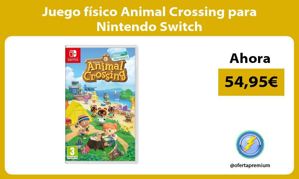 Juego físico Animal Crossing para Nintendo Switch