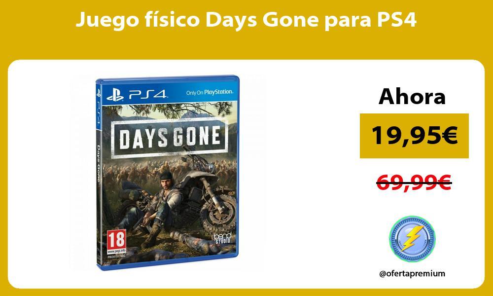 Juego físico Days Gone para PS4