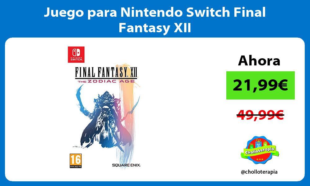 Juego para Nintendo Switch Final Fantasy XII