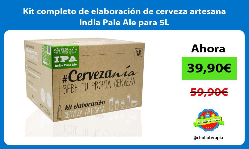 Kit completo de elaboración de cerveza artesana India Pale Ale para 5L