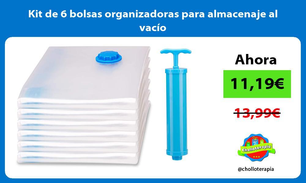 Kit de 6 bolsas organizadoras para almacenaje al vacío