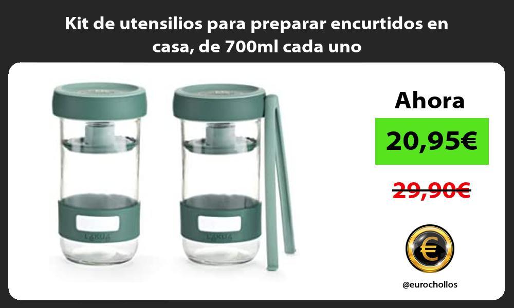 Kit de utensilios para preparar encurtidos en casa de 700ml cada uno