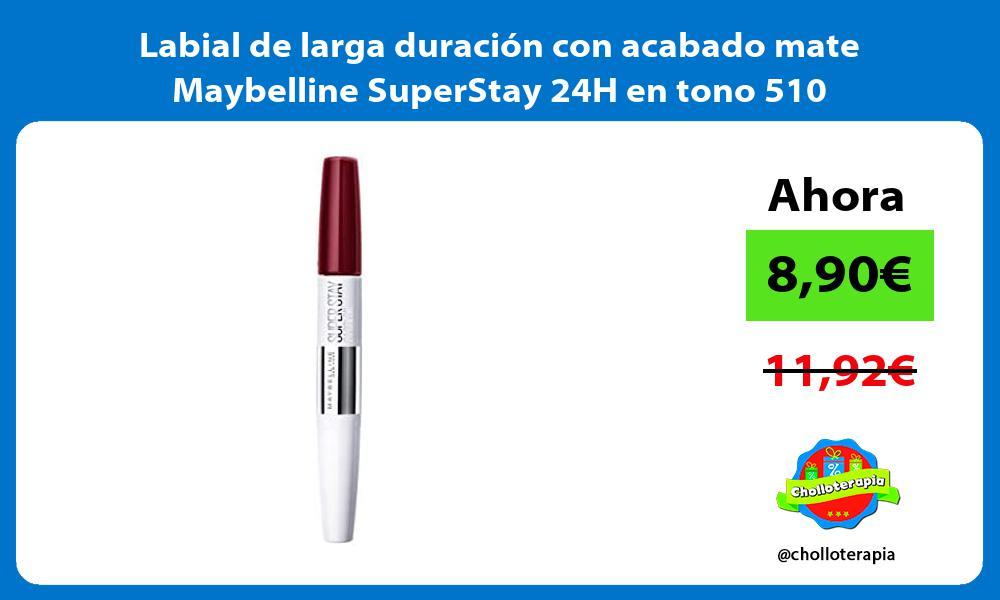 Labial de larga duración con acabado mate Maybelline SuperStay 24H en tono 510
