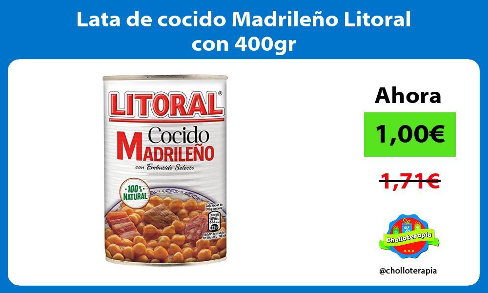 Lata de cocido Madrileño Litoral con 400gr
