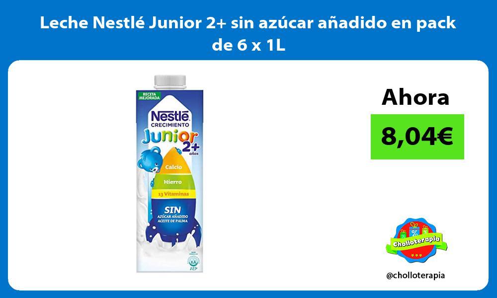 Leche Nestlé Junior 2 sin azúcar añadido en pack de 6 x 1L