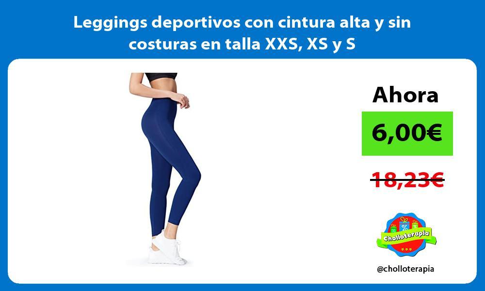 Leggings deportivos con cintura alta y sin costuras en talla XXS XS y S