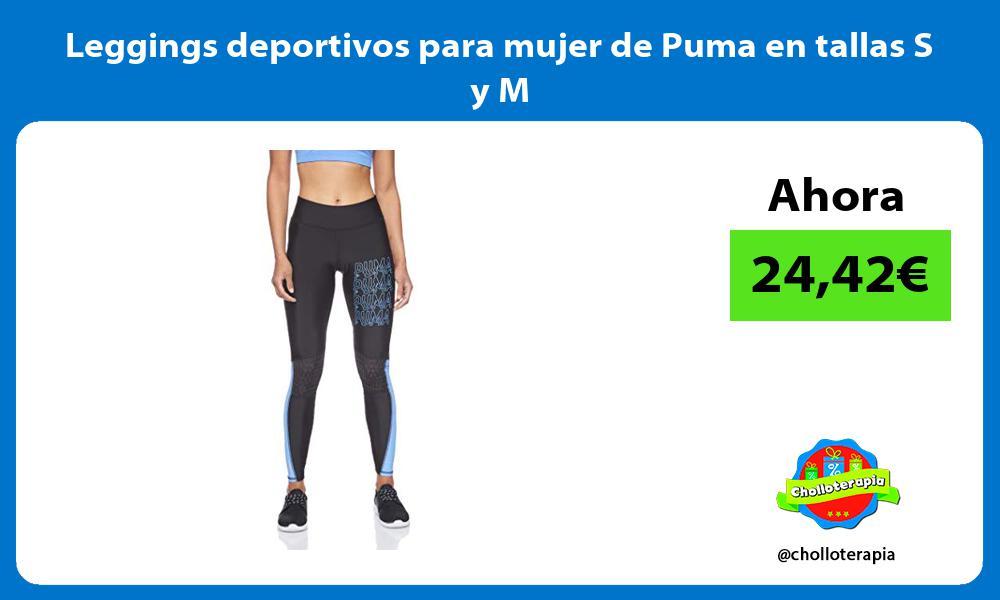 Leggings deportivos para mujer de Puma en tallas S y M
