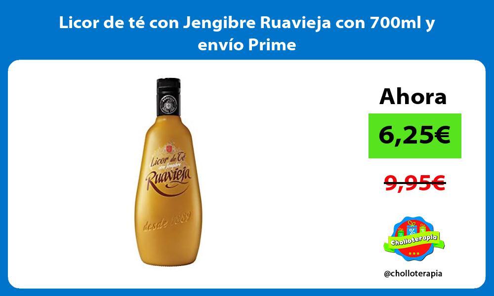 Licor de té con Jengibre Ruavieja con 700ml y envío Prime