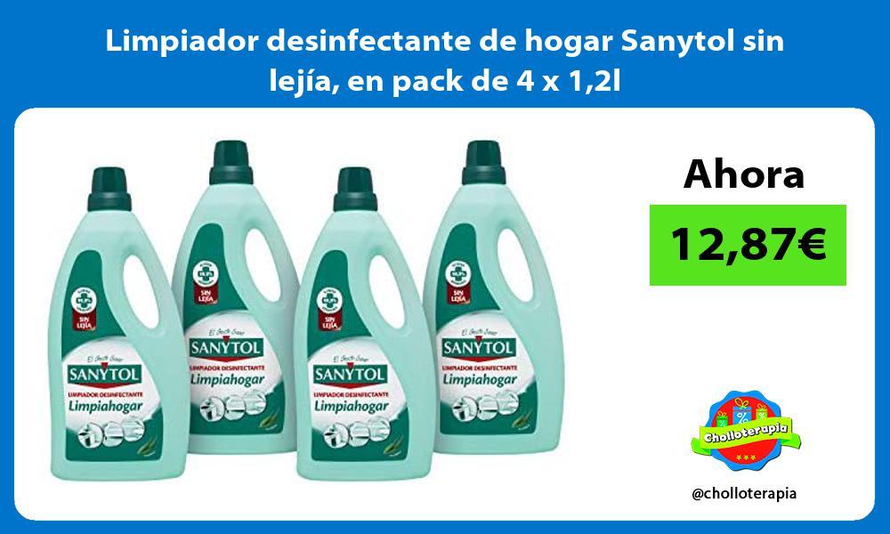 Limpiador desinfectante de hogar Sanytol sin lejía en pack de 4 x 12l