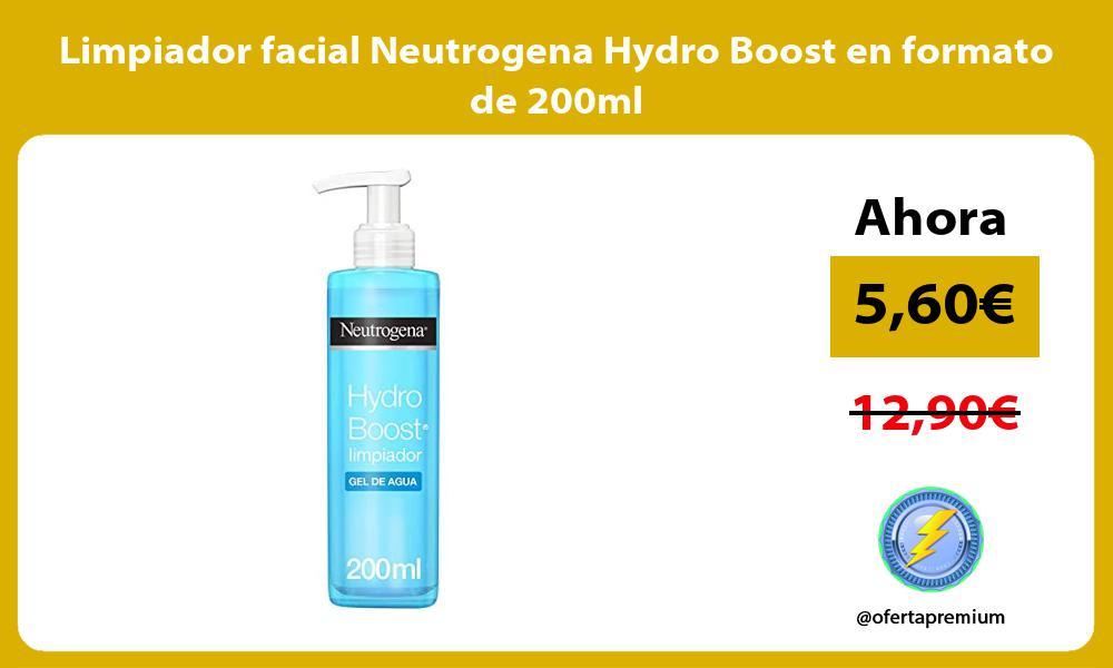 Limpiador facial Neutrogena Hydro Boost en formato de 200ml