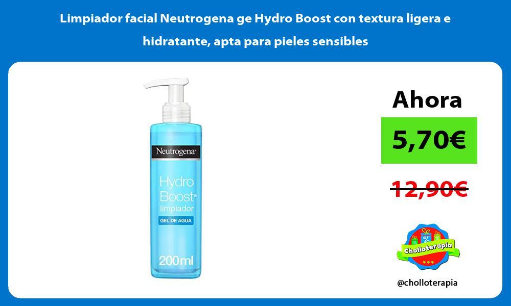 Limpiador facial Neutrogena ge Hydro Boost con textura ligera e hidratante apta para pieles sensibles