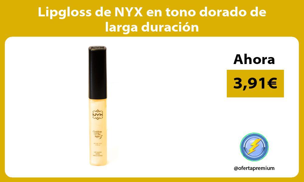 Lipgloss de NYX en tono dorado de larga duración