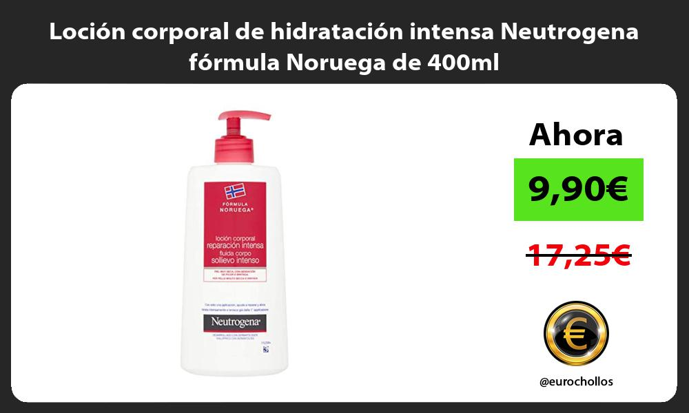 Loción corporal de hidratación intensa Neutrogena fórmula Noruega de 400ml