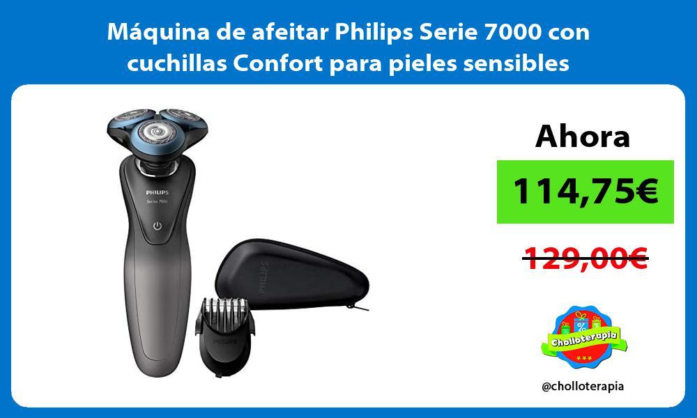 Máquina de afeitar Philips Serie 7000 con cuchillas Confort para pieles sensibles