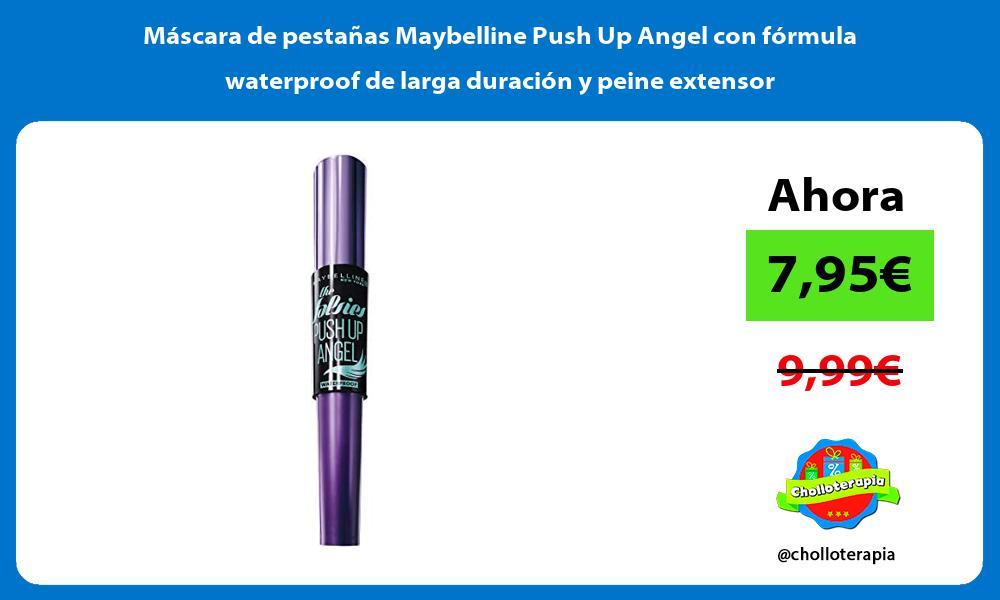 Máscara de pestañas Maybelline Push Up Angel con fórmula waterproof de larga duración y peine extensor