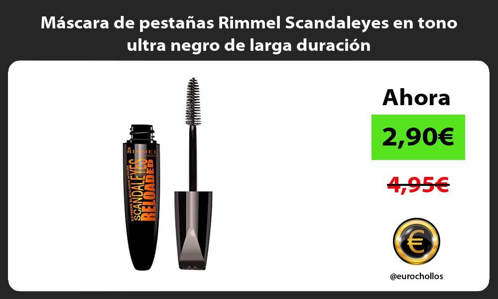 Máscara de pestañas Rimmel Scandaleyes en tono ultra negro de larga duración
