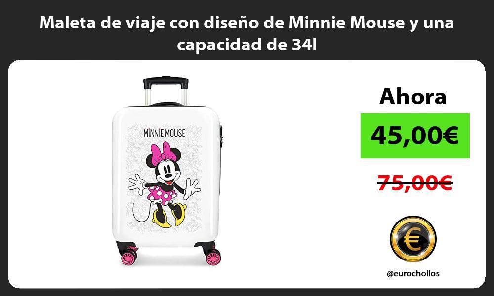 Maleta de viaje con diseño de Minnie Mouse y una capacidad de 34l