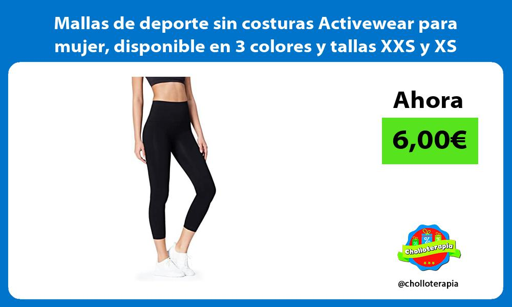 Mallas de deporte sin costuras Activewear para mujer disponible en 3 colores y tallas XXS y XS