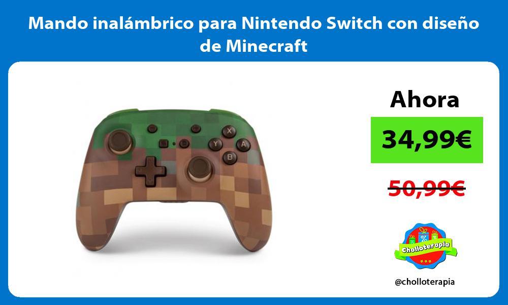 Mando inalámbrico para Nintendo Switch con diseño de Minecraft