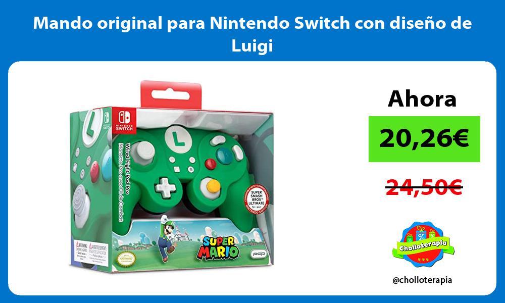 Mando original para Nintendo Switch con diseño de Luigi