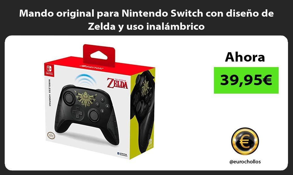 Mando original para Nintendo Switch con diseño de Zelda y uso inalámbrico