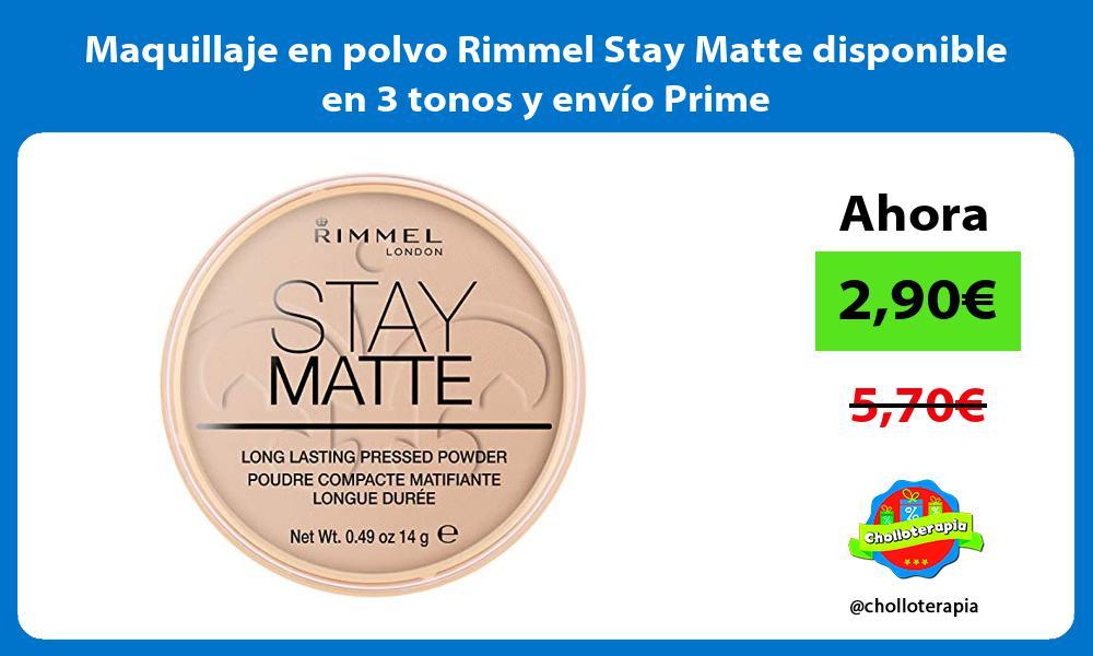 Maquillaje en polvo Rimmel Stay Matte disponible en 3 tonos y envío Prime