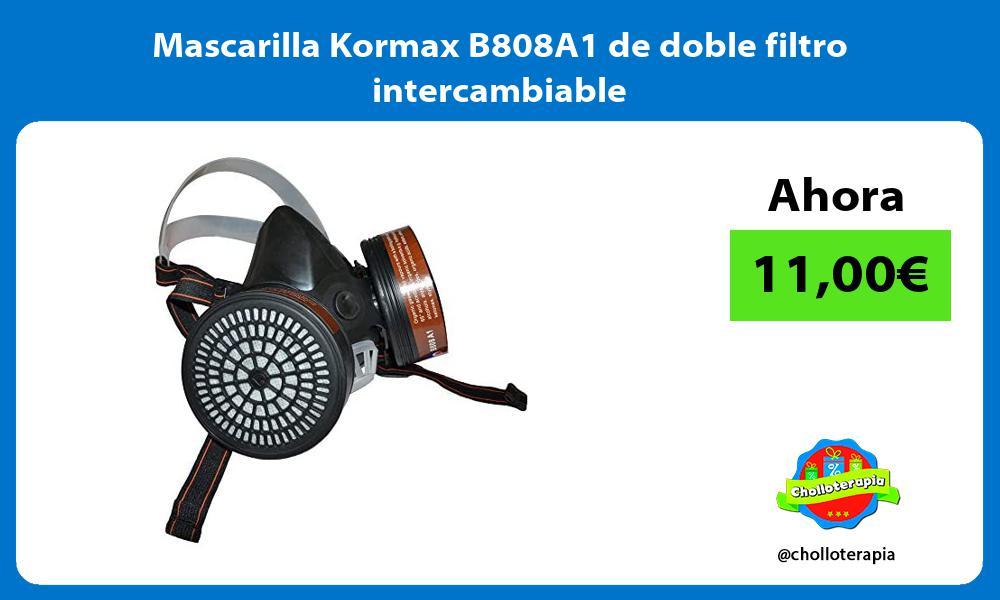 Mascarilla Kormax B808A1 de doble filtro intercambiable