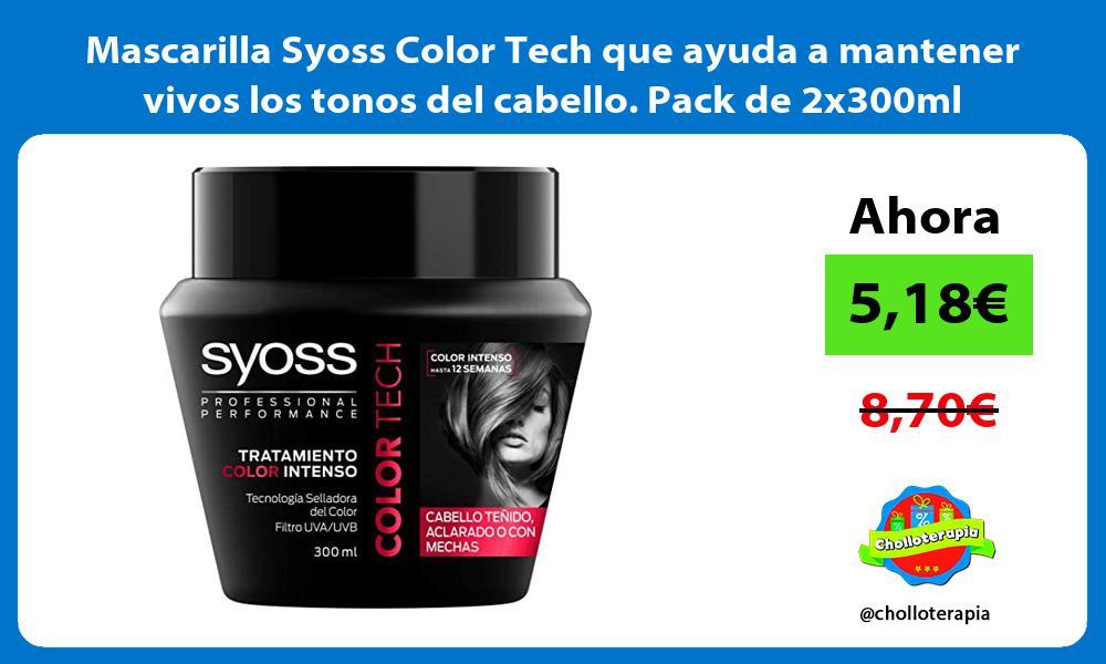 Mascarilla Syoss Color Tech que ayuda a mantener vivos los tonos del cabello Pack de 2x300ml