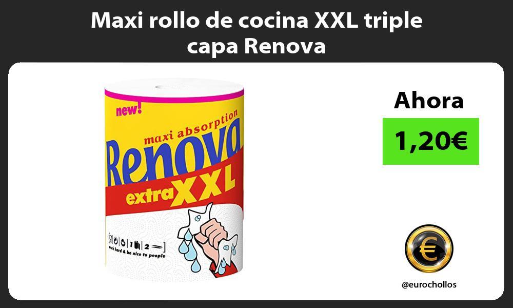 Maxi rollo de cocina XXL triple capa Renova