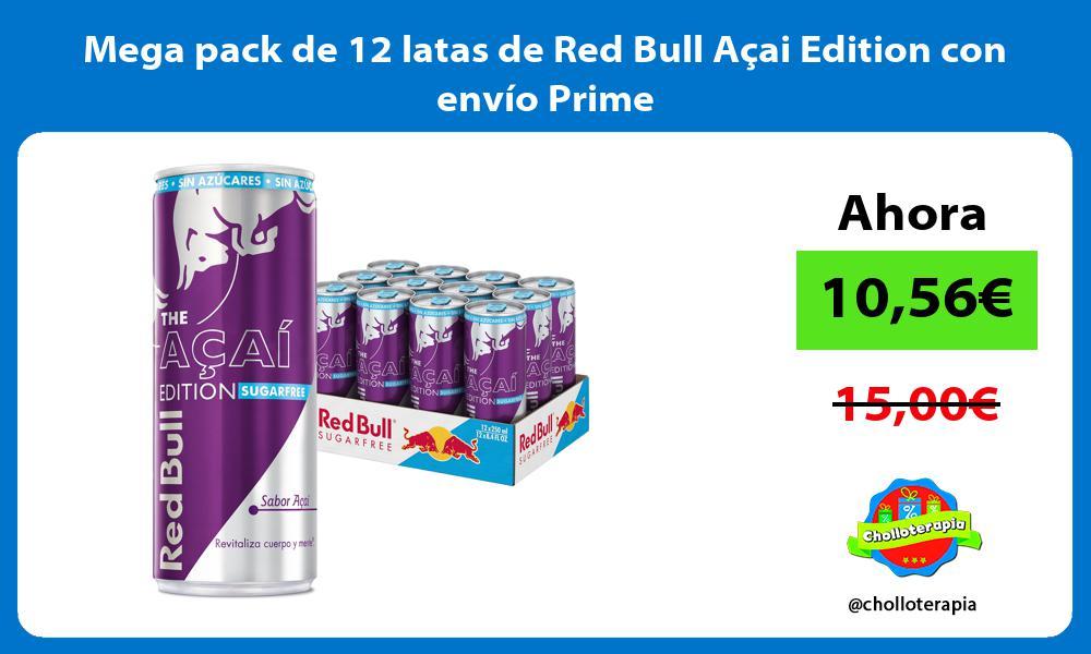 Mega pack de 12 latas de Red Bull Açai Edition con envío Prime