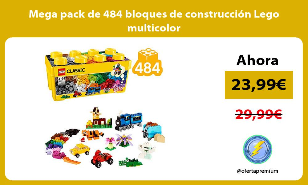 Mega pack de 484 bloques de construcción Lego multicolor