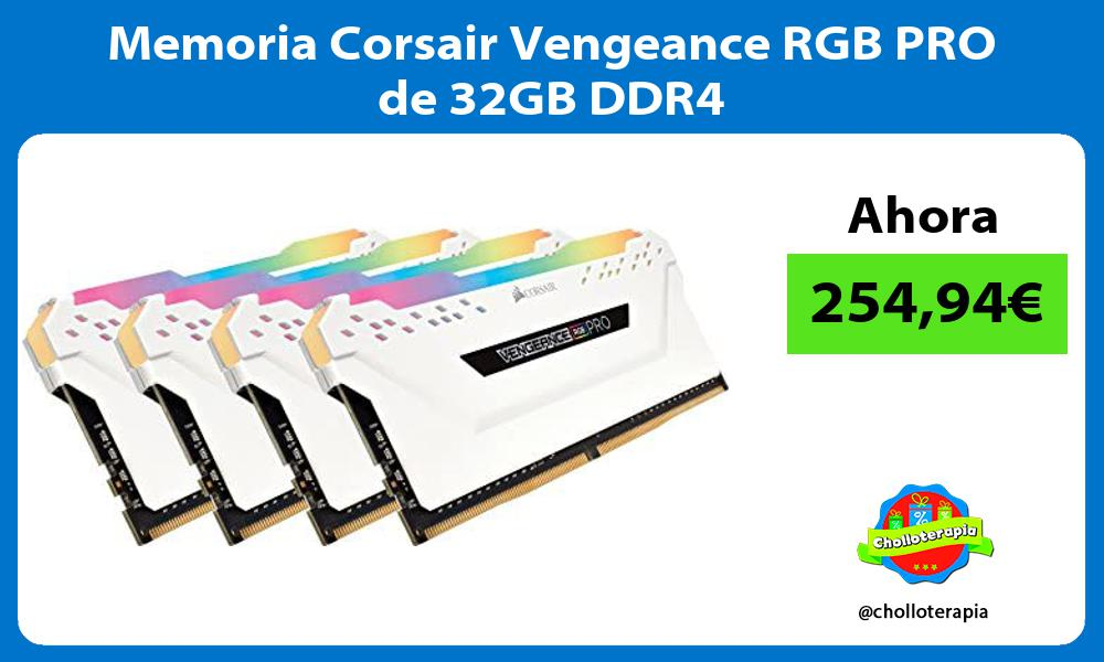Memoria Corsair Vengeance RGB PRO de 32GB DDR4