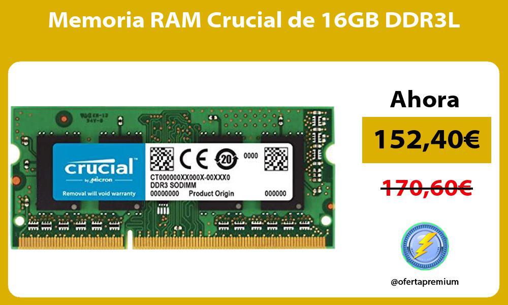 Memoria RAM Crucial de 16GB DDR3L
