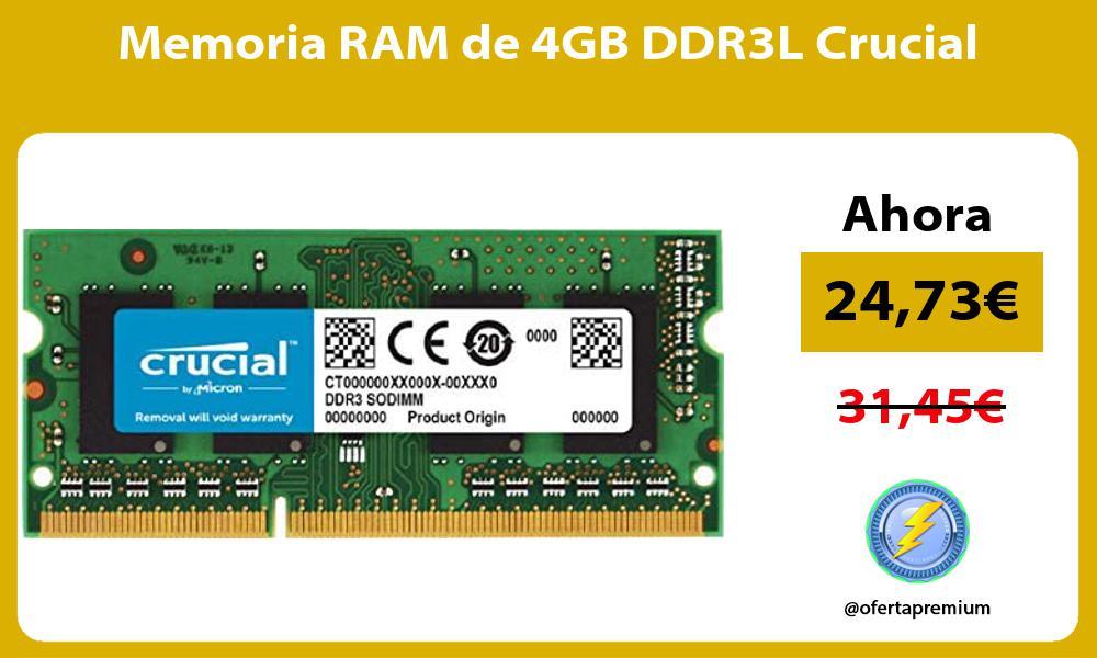 Memoria RAM de 4GB DDR3L Crucial