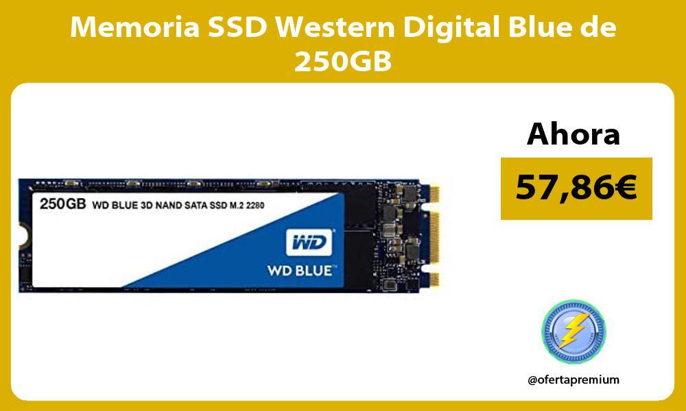 Memoria SSD Western Digital Blue de 250GB